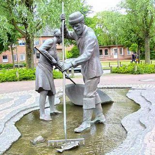 Im Ortsteil Böhl steht Jan und Gret